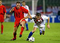 Fotball<br /> EM-kvalifisering<br /> 10.09.2003<br /> Belgia v Kroatia<br /> NORWAY ONLY<br /> Foto: Phot News/Digitalsport<br /> <br /> PHILIPPE CLEMENT / IVICA OLIC