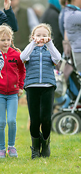 Isla and Savannah Phillips as they watch their Aunt, Zara Tindall, compete at the Land Rover Gatcombe Horse Trials on the estate of the Princess Royal.