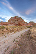Badlands in the Red Desert of Wyoming