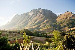 Dec. 05, 2012 - Stellenbosch Mountain, view from Hells Heights Pass, South Africa (Credit Image: © Image Source/ZUMAPRESS.com)