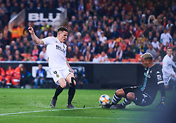 February 28, 2019 - Valencia, U.S. - VALENCIA, SPAIN - FEBRUARY 28: Kevin Gameiro, forward of Valencia CF in action during the Copa del Rey match between Valencia CF and Real Betis Balompie at Mestalla stadium on February 28, 2019 in Valencia, Spain. (Photo by Carlos Sanchez Martinez/Icon Sportswire) (Credit Image: © Carlos Sanchez Martinez/Icon SMI via ZUMA Press)