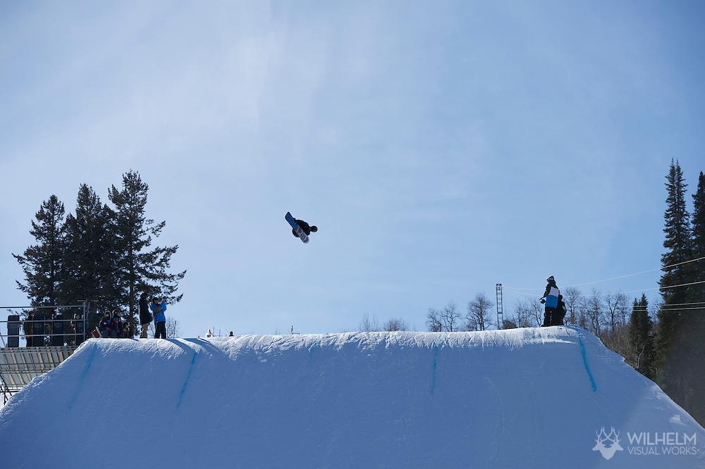 Shaun White during Men's Snowboard Slopestyle Practice at the 2013 X Games Aspen at Buttermilk Mountain in Aspen, CO.  Brett Wilhelm/ESPN