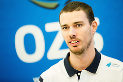 Alen Pajenk during press conference of Slovenian Volleyball Federation before FIVB Volleyball World League tournament in Ljubljana, on May 5, 2016 in Hotel Spik, Gozd Martuljek, Slovenia. Photo by Vid Ponikvar / Sportida