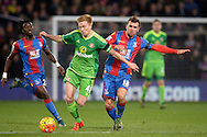 Duncan Watmore of Sunderland © goes past James McArthur of Crystal Palace (r). Barclays Premier league match, Crystal Palace v Sunderland at Selhurst Park in London on Monday 23rd November 2015.<br /> pic by John Patrick Fletcher, Andrew Orchard sports photography.