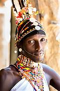 A Samburu warrior in Kenya.