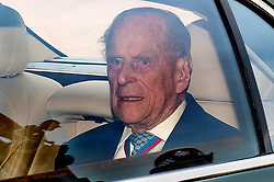 © Licensed to London News Pictures. 04/05/2017. London, UK. Prince Philip leaves Buckingham Palace Following an announcement that he will no longer take part in official engagements. . Photo credit: Ben Cawthra/LNP