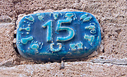 Israel, Jaffa, Ceramic numbers zodiac signs the number fifteen