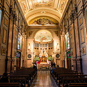 Chapel in the Metropolitan Cathedral of Santiago (Catedral Metropolitana de Santiago) in the heart of Santiago, Chile, facing Plaza de Armas. The original cathedral was constructed during the period 1748 to 1800 (with subsequent alterations) of a neoclassical design.