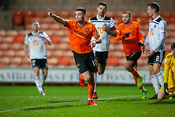 Dundee United's Sam Stanton (12) celebrates after scoring their first half goal. half time : Dundee United 1 v 0 Ayr United, Scottish Championship game played 21/12/2019 at Dundee United's stadium Tannadice Park.