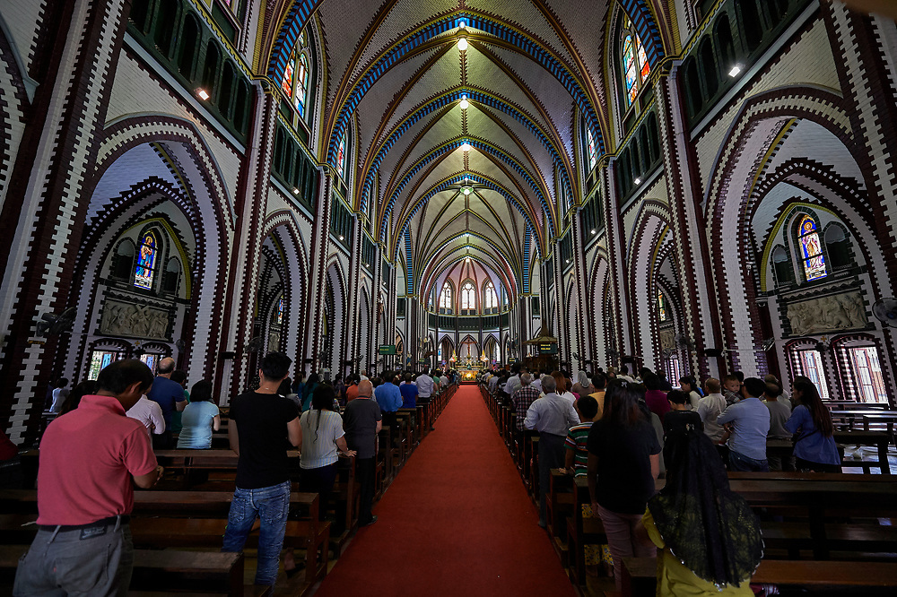 St. Mary's Cathedral in Yangon, Myanmar, is seen Oct. 15. Pope Francis will visit the southeast Asian country Nov. 27-30. Photo by Paul Jeffrey/kairosphotos.com