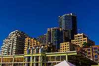 Modern buildings, Downtown Seattle, Washington USA.