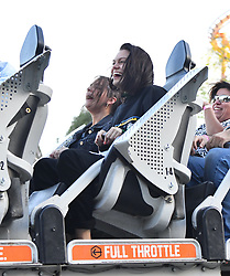 EXCLUSIVE: Jessie J has a blast at riding thrill rides at Six Flags Magic Mountain with a small group of friends in Los Angeles. Jessie was seen smiling and screaming as she rode many of the very extreme rides at the theme park. She was seen riding the Full Throttle rollercoaster as well as the Gold Rush coaster with her friends and was all smiles. The group were joined by a tour guide despite the theme park being pretty desolate. Jessie and her friends were also seen snacking on a sweet treat and also spent about 20 minutes on a phone call in which seemed to have made her pretty upset. 26 Feb 2020 Pictured: Jessie J. Photo credit: Snorlax / MEGA TheMegaAgency.com +1 888 505 6342