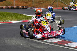 December 15, 2017 - Brazil - COTIA, SP - 15.12.2017: 500 MILHAS DE KART 2017 - On Thursday (14), free practice began, and today (15) the official training sessions of the most traditional Brazilian kartism will take place this Saturday (16) with more than 50 teams in search of victory, bringing together the biggest names in world motorsport of the most diverse categories like Formula 1, Indy, Formula 2, F3, StockCar, Copa Truck and the Kart. There are 12 hours of competition between teams competing in karts with prepared 4-stroke Honda engines. In the photo the pilot Caio Collet, winner of the category Shifter. (Credit Image: © Fotoarena via ZUMA Press)