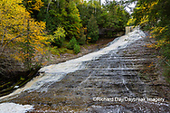 64795-03402 Laughing Whitefish Falls in fall Alger Co. MI