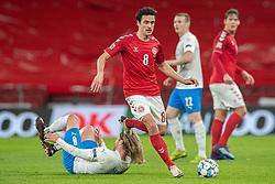Thomas Delaney (Danmark) under kampen i Nations League mellem Danmark og Island den 15. november 2020 i Parken, København (Foto: Claus Birch).