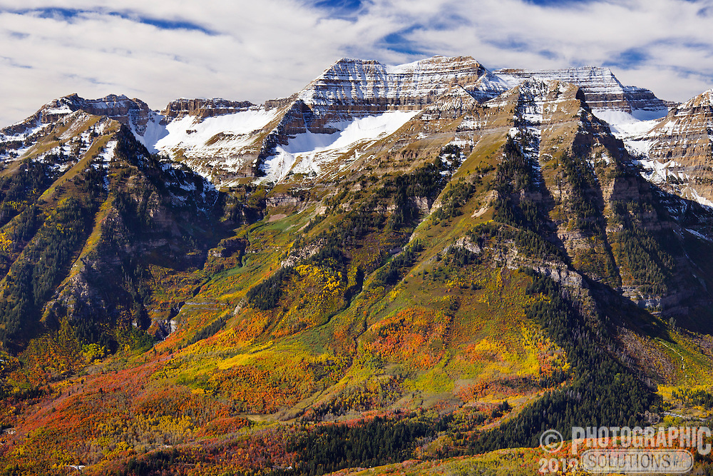 Fall Colors on the north-east side of Mount Timpanogos