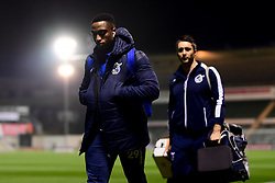 Victor Adeboyejo of Bristol Rovers arrives at Home Park prior to kick off - Mandatory by-line: Ryan Hiscott/JMP - 17/12/2019 - FOOTBALL - Home Park - Plymouth, England - Plymouth Argyle v Bristol Rovers - Emirates FA Cup second round replay