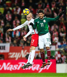 November 13, 2017 - Gdansk, Poland - Rafal Kurzawa (POL), Carlos Vela (MEX) during the International Friendly match between Poland and Mexico at Energa Stadium in Gdansk, Poland on November 13, 2017. (Credit Image: © Foto Olimpik/NurPhoto via ZUMA Press)