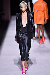Model Marjan Jonkman walks on the runway during the Tom Ford Fashion Show during New York Fashion Week Spring Summer 2018 in New York, NY on September 6, 2017. (Photo by Jonas Gustavsson/Sipa USA)