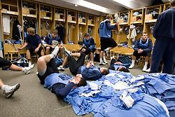 14 April 2008: North Carolina Tar Heels men's lacrosse defenseman Sean Jackson (33) during a practice day in Chapel Hill, NC.