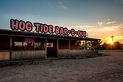 Sunrise at Hog Tide Bar-B-Que located in Aurora, MO. Photo by Brandon Alms Photography