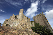 view from castle at medieval village of Obidos, with castle walls that encircle the town, .Paulo Cunha/4see