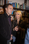 ANGUS DEAYTON; HELEN FIELDING , Allie Esiri's The Love Book launch party , Daunt Books <br /> 83 Marylebone High Street, London. 5 February 2014