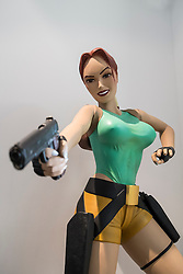 Lifesize model of Lara Croft at Computerspiele Museum or Computer Games Museum in Berlin Germany