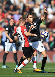 23 September 2017 -  Premier League - Southampton v Manchester United - Nemanja Matic of Manchester United in action with Steven Davis of Southampton - Photo: Marc Atkins/Offside