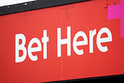 A Tote bookkeeper sign at Huntingdon racecourse. Picture date: Tuesday October 5, 2021.