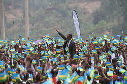 NYABIHU (RWANDA), July 4, 2017  Rwandan President Paul Kagame (C) greets Rwandan people during the celebration of Liberation Day in Nyabihu district, western Rwanda, on July 4, 2017. Rwanda on Tuesday marked the 23rd anniversary of the liberation struggle that saw the current government defeat the genocidal regime. (Credit Image: © Xinhua via ZUMA Wire)