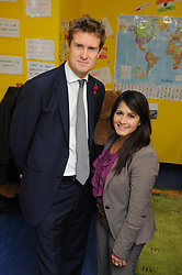 © Licensed to London News Pictures. 10/11/2014<br /> Tristram Hunt MP<br />  Naushabah Khan, Labour's local Parliamentary Candidate<br /> <br /> Labour's Shadow Education Secretary Tristram Hunt MP  visiting City Way Nursery in Rochester & Strood in Kent this morning (10.11.2014) Meeting parents and staff  to talk about the area's school crisis, with two in five local primaries failing. He will be accompanied by Naushabah Khan, Labour's local Parliamentary Candidate and will also meet the Vice Principal of Strood Academy Scott Daly.<br /> <br /> <br /> <br /> (Byline:Grant Falvey/LNP)