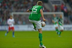 25.09.2010, Weser Stadion, Bremen, GER, 1.FBL, Werder Bremen vs Hamburger SV im Bild  Sebastian Prödl / Proedl ( Werder #15)   EXPA Pictures © 2010, PhotoCredit: EXPA/ nph/  Kokenge+++++ ATTENTION - OUT OF GER +++++ / SPORTIDA PHOTO AGENCY