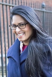 Downing Street, London, February 2nd 2016. Employment Minister Priti Patel leaves No 10 after attending the weekly Cabinet meeting. ///FOR LICENCING CONTACT: paul@pauldaveycreative.co.uk TEL:+44 (0) 7966 016 296 or +44 (0) 20 8969 6875. ©2015 Paul R Davey. All rights reserved.