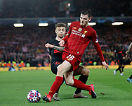Andrew Robertson of Liverpool tackles Kieran Trippier of Atletico Madrid during the UEFA Champions League match at Anfield, Liverpool. Picture date: 11th March 2020. Picture credit should read: Darren Staples/Sportimage