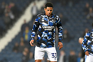 Derby County defender Curtis Davies (33) warms up during the EFL Sky Bet Championship match between West Bromwich Albion and Derby County at The Hawthorns, West Bromwich, England on 14 September 2021.