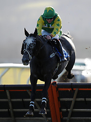 Miss Dimples ridden by R T Dunne Aspen Waite R & D Introducers Mares' Handicap Hurdle (Class 5) (4YO plus) - Photo mandatory by-line: Harry Trump/JMP - Mobile: 07966 386802 - 17/02/15 - SPORT - Equestrian - Horse Racing - Taunton Racecourse, Somerset, England.