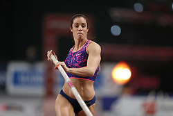 February 7, 2018 - Paris, Ile-de-France, France - Katerina Stefanidi of Greece competes in pole vault during the Athletics Indoor Meeting of Paris 2018, at AccorHotels Arena (Bercy) in Paris, France on February 7, 2018. (Credit Image: © Michel Stoupak/NurPhoto via ZUMA Press)