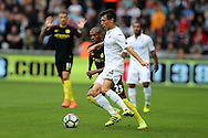 Jack Cork of Swansea city in action. Premier league match, Swansea city v Manchester city at the Liberty Stadium in Swansea, South Wales on Saturday 24th September 2016.<br /> pic by Andrew Orchard, Andrew Orchard sports photography.