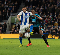 Brighton & Hove Albion's Anthony Knockaert (left) under pressure from West Bromwich Albion's Tosin Adarabioyo (right) <br /> <br /> Photographer David Horton/CameraSport<br /> <br /> Emirates FA Cup Fourth Round - Brighton and Hove Albion v West Bromwich Albion - Saturday 26th January 2019 - The Amex Stadium - Brighton<br />  <br /> World Copyright © 2019 CameraSport. All rights reserved. 43 Linden Ave. Countesthorpe. Leicester. England. LE8 5PG - Tel: +44 (0) 116 277 4147 - admin@camerasport.com - www.camerasport.com