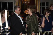 PRINCESS KATYA GALITZINE;   Professor Mikhail Piotrovsky Director of the State Hermitage Museum, St. Petersburg and <br /> Inna Bazhenova Founder of In Artibus and the new owner of the Art Newspaper worldwide<br /> host THE HERMITAGE FOUNDATION GALA BANQUET<br /> GALA DINNER <br /> Spencer House, St. James's Place, London<br /> 15 April 2015