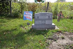 31 August 2017:   Veterans graves in Dawson Cemetery in eastern McLean County.<br /> <br /> Arthur Ivan Corry  Dec 7 1924  Mar 20 2009