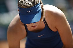 June 2, 2018 - Paris, Ile-de-France, France - Maria Sharapova of Russia plays during her womens singles third round match against Karolina Pliskova of Czech Republic during day 7 of the 2018 French Open at Roland Garros on June 2, 2018 in Paris, France. (Credit Image: © Mehdi Taamallah/NurPhoto via ZUMA Press)