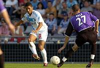 Fotball<br /> Frankrike 2004/05<br /> Istres v Olympique Marseille<br /> 2. oktober 2004<br /> Foto: Digitalsport<br /> NORWAY ONLY<br /> SYLVAIN N'DIAYE (OM) / STEVEN PELE (IST)