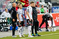 Fotball , 12. august 2018 , Eliteserien<br /> Odd - Strømsgodset<br /> Tobias Lauritsen, Odd<br /> Fredrik Nordkvelle, Odd<br /> Dag-Eilev Fagermo, Odd<br /> Foto: Christoffer Hansen , Digitalsport