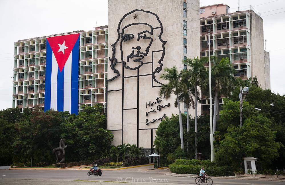 Image of Che Guevara, Ministry of the Interior, Havana, Cuba