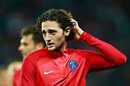 Paris Saint Germain's French midfielder Adrien Rabiot gestures during the UEFA Champions League, Group B football match between Paris Saint-Germain and Bayern Munich on September 27, 2017 at the Parc des Princes stadium in Paris, France - Photo Benjamin Cremel / ProSportsImages / DPPI