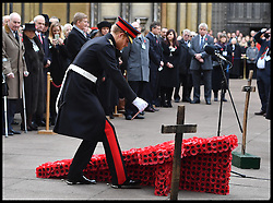 November 10, 2016 - London, United Kingdom - Image ©Licensed to i-Images Picture Agency. 10/11/2016. London, United Kingdom. Field of Remembrance. Prince Harry and Prince Philip, The Duke of Edinburgh. Open the  Field of Remembrance at Westminster Abbey. A tribute to remember those who were lost serving in the Armed Forces. Picture by Andrew Parsons / i-Images (Credit Image: © Andrew Parsons/i-Images via ZUMA Wire)
