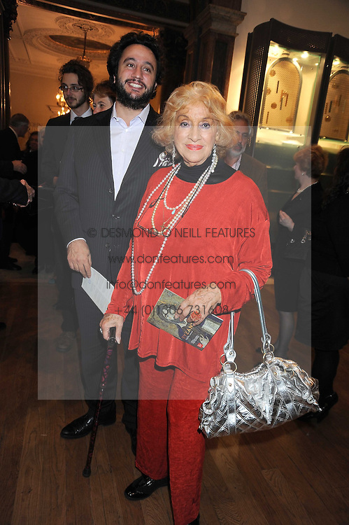 MARIA ANDIPA and her son ACORIS ANDIPA at the opening of the Royal Academy of Arts Byzantium 330-1453 exhibition held at the RA, Burlington House, Piccadilly, London on 21st October 2008.