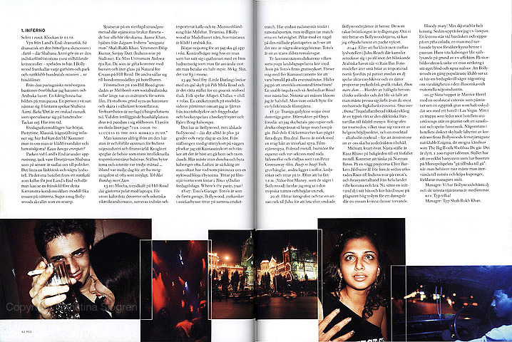 '48 1/2 hours in Bollywood' Article in the Swedish travel magazine RES.